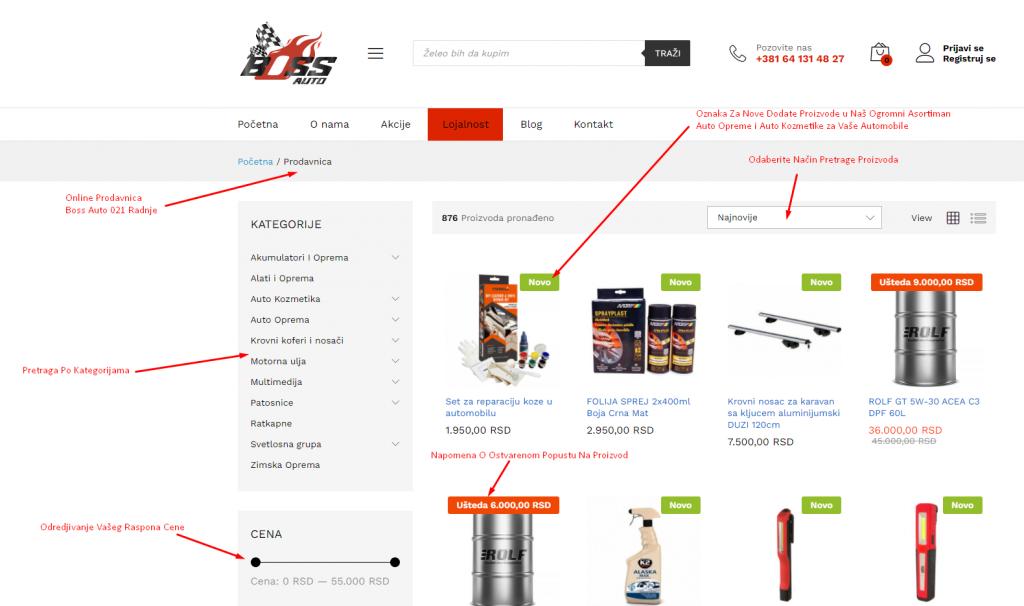 Prodavnica - Boss Auto 2.0 Online Kupovni Sajt